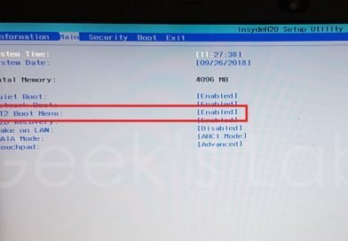 How to boot from usb on Acer Aspire E15 series