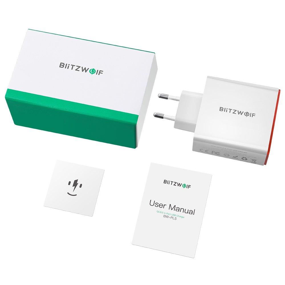 BlitzWolf USB Charger BW-PL5 4 Porte