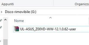 Installare aggiornamento firmware su Asus Zenfone