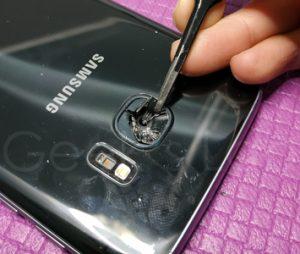 riparazione vetro fotocamera s7